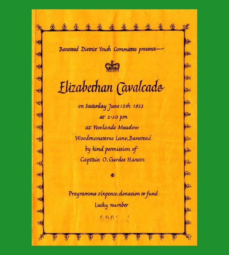 1953 Coronation Elizabethan Cavalcade in Banstead.