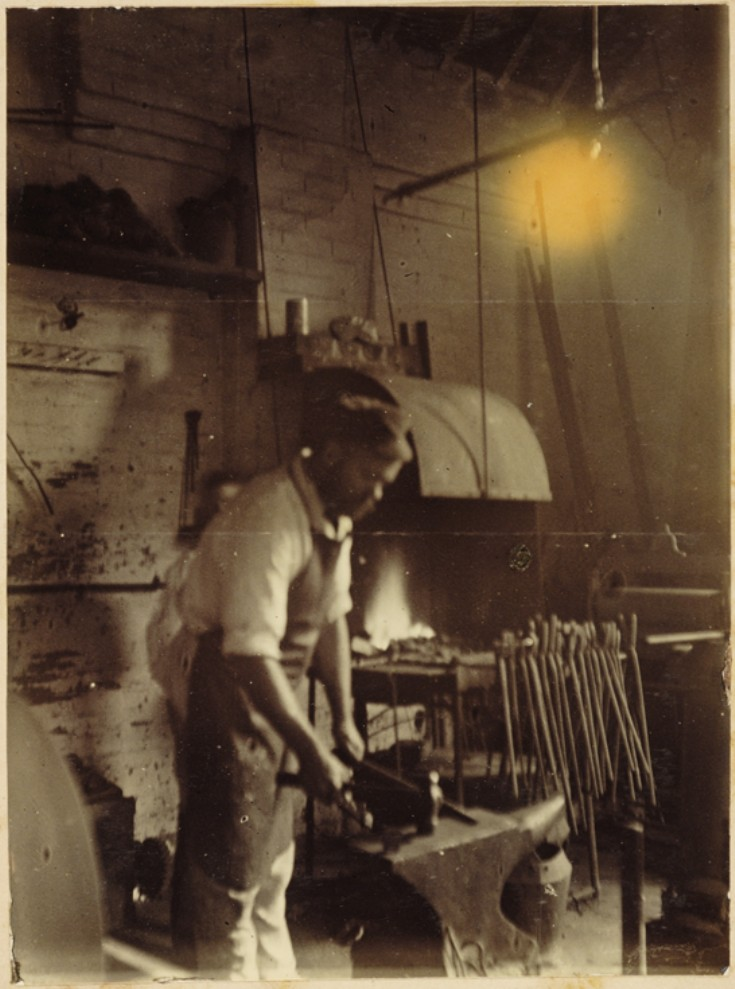 Banstead School - Blacksmith at anvil