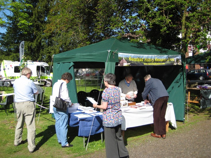 The Banstead History Research Group stall