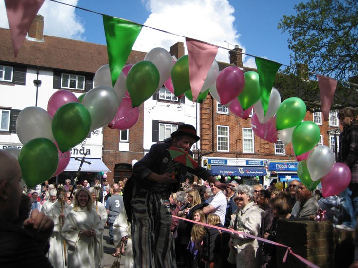 Banstead May Queen Event - walking tall