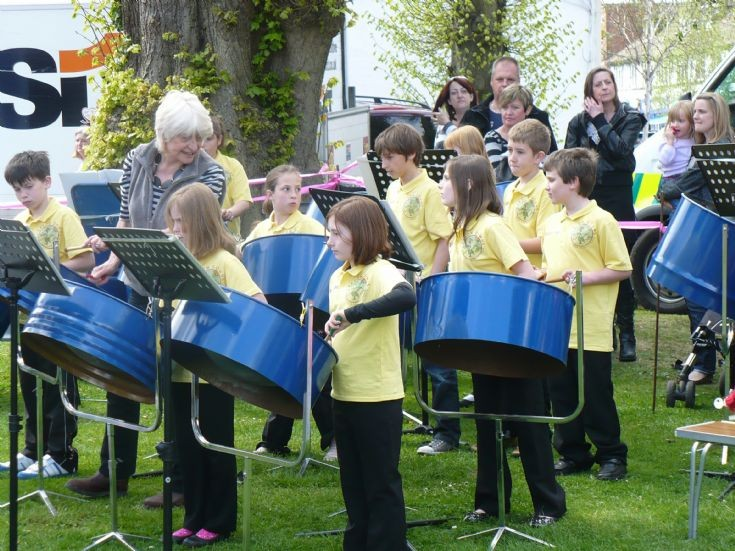 Epsom Down School Steel Band at Banstead May Fayre