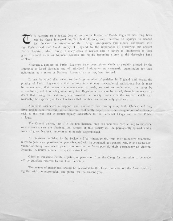 Parish Register Society - page 2