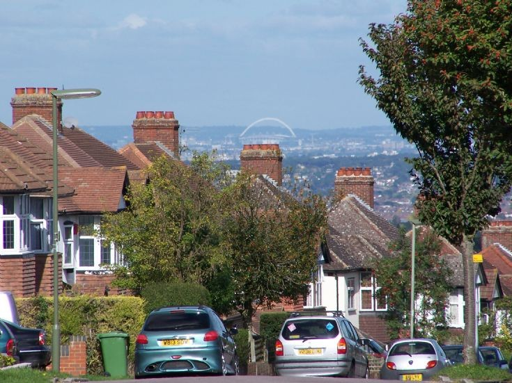 View of the Wembley Arch from Banstead