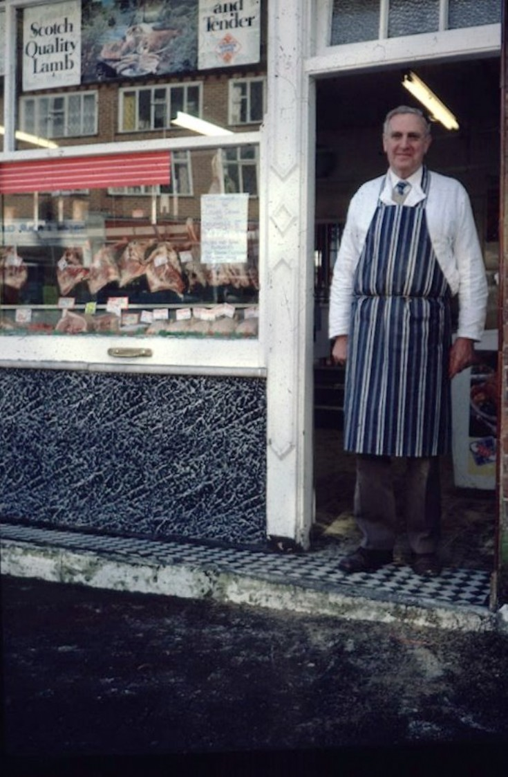 Banstead High Street Mr H Parker butcher