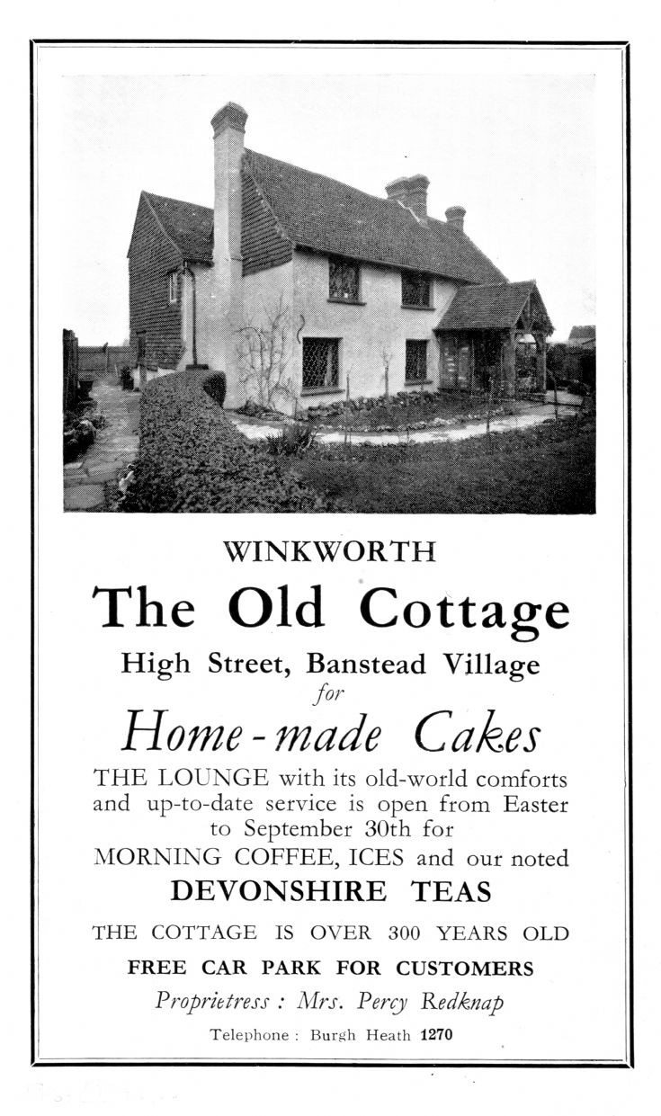 Winkworth Cottage old advert