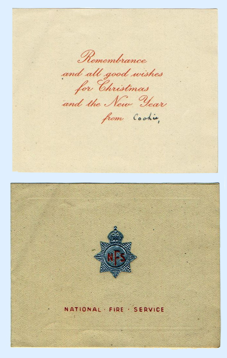 National Fire Service wartime Christmas card
