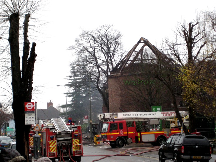 Waitrose fire  - The morning after