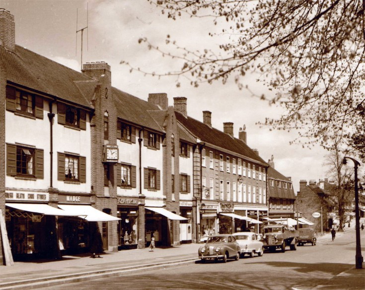 Banstead High Street opposite the church
