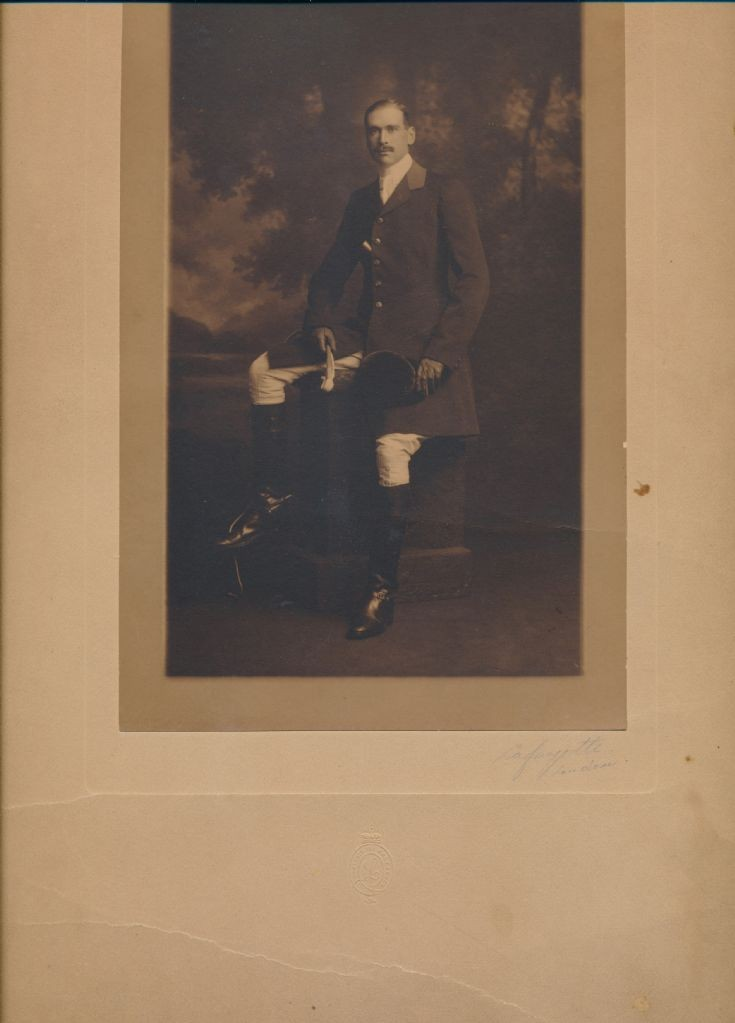 Gordon Colman in riding attire
