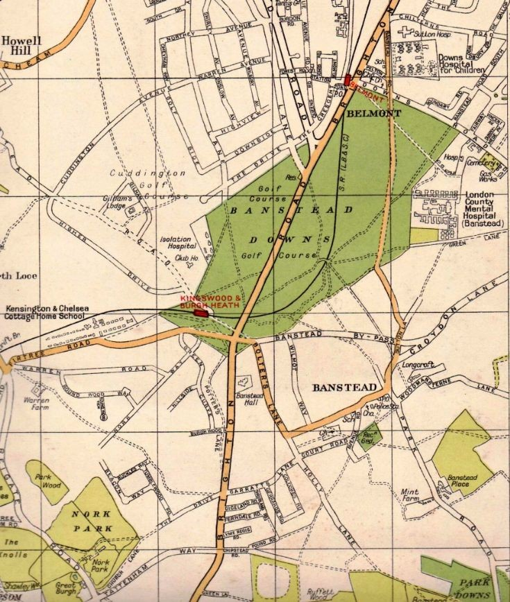 Map of Banstead from 1932