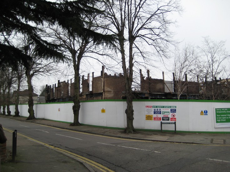 Waitrose site four months after the fire