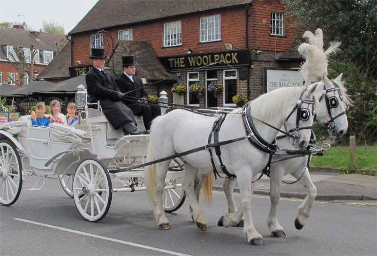 Banstead May Queen in horse and carriage