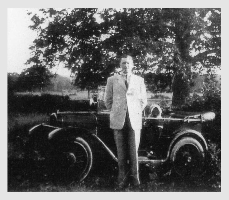 Ivan with his Austin 7 Year 1934