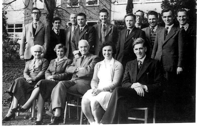 Teachers at BCSBS, Picquets Way - late 1950s
