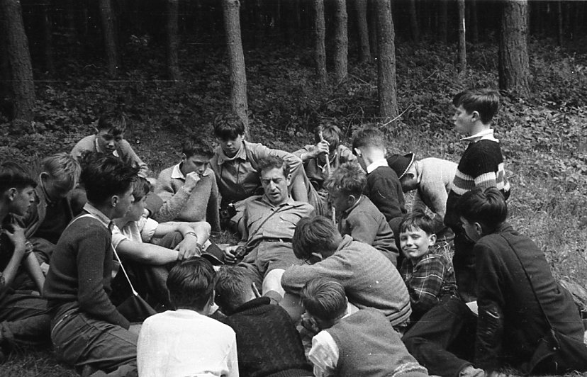 Story telling at Henley Fort - 1957