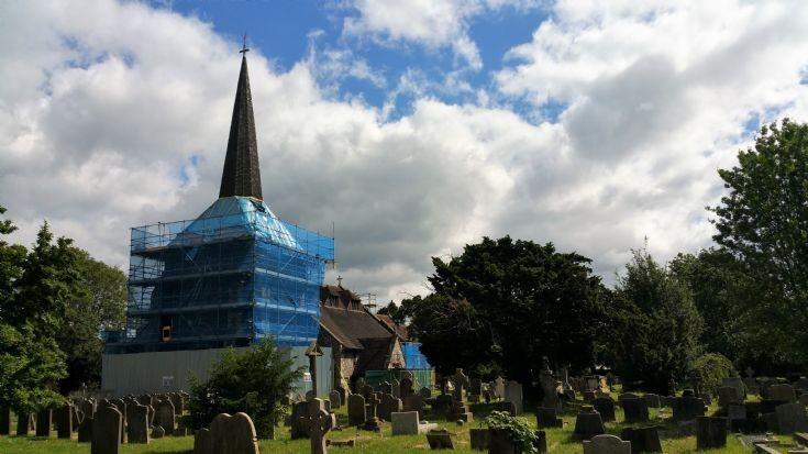 All Saints Banstead and graveyard