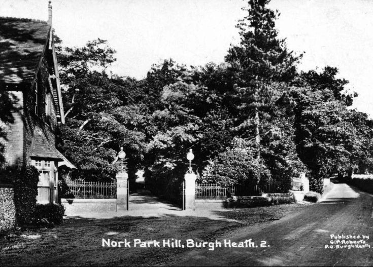 Nork Park Hill entrance to Nork House Drive