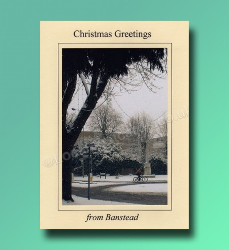 The War Memorial - Banstead.  Christmas card