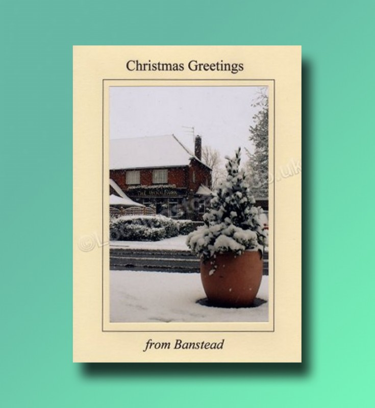 The Woolpack - Banstead Christmas card