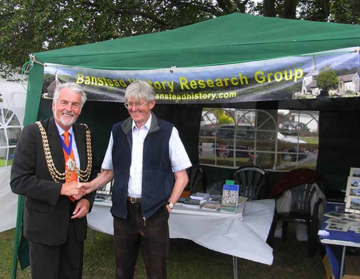 Mayor visits BHRG display at Nork Park