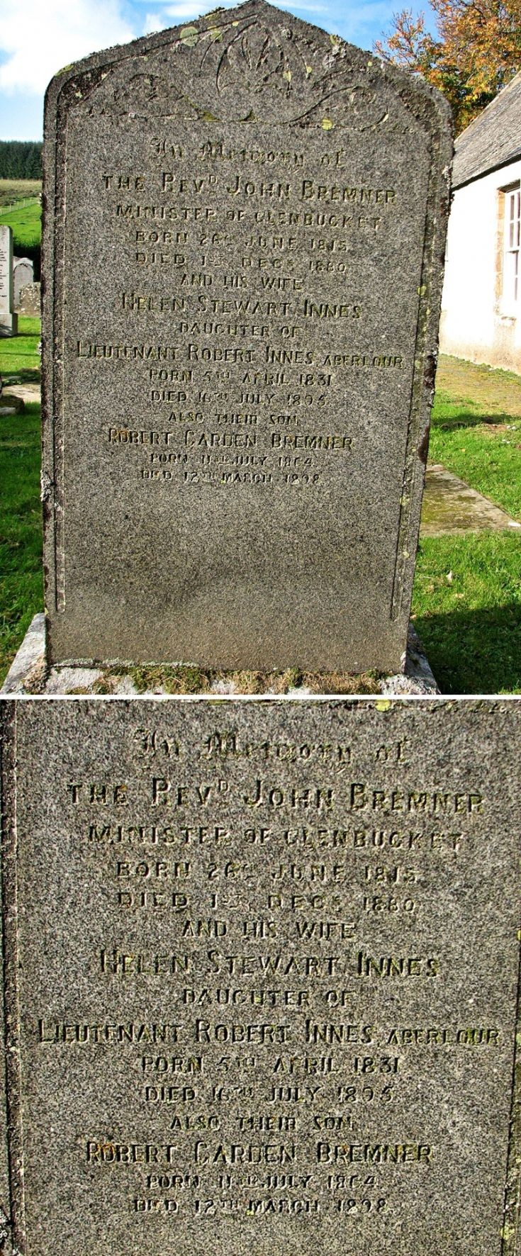 58 Grave No 66 Rev John Bremner