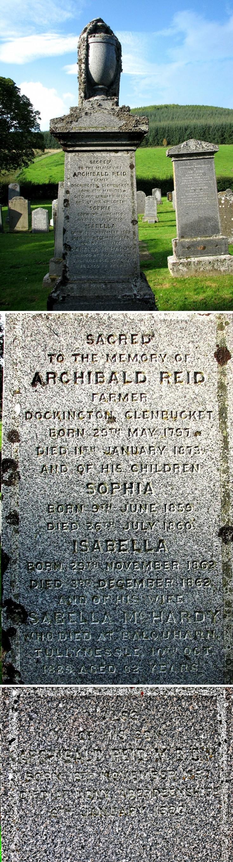 70 Grave No 93 Archibald Reid,(W),Son Archibald (N