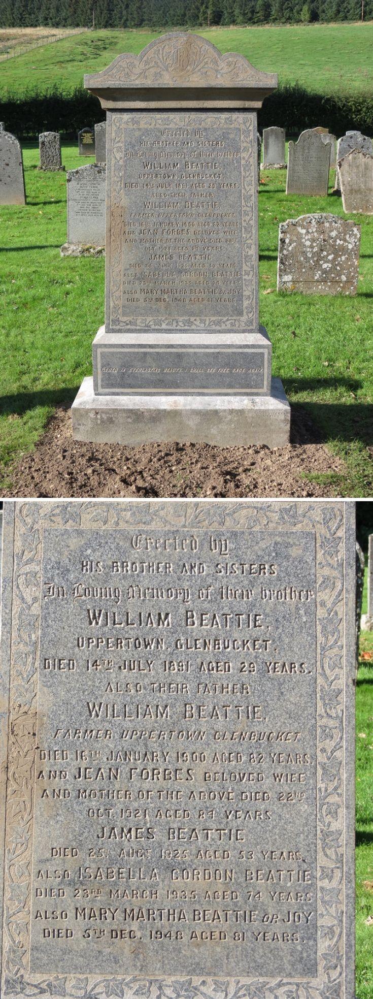 82 Grave No 116 William Beattie