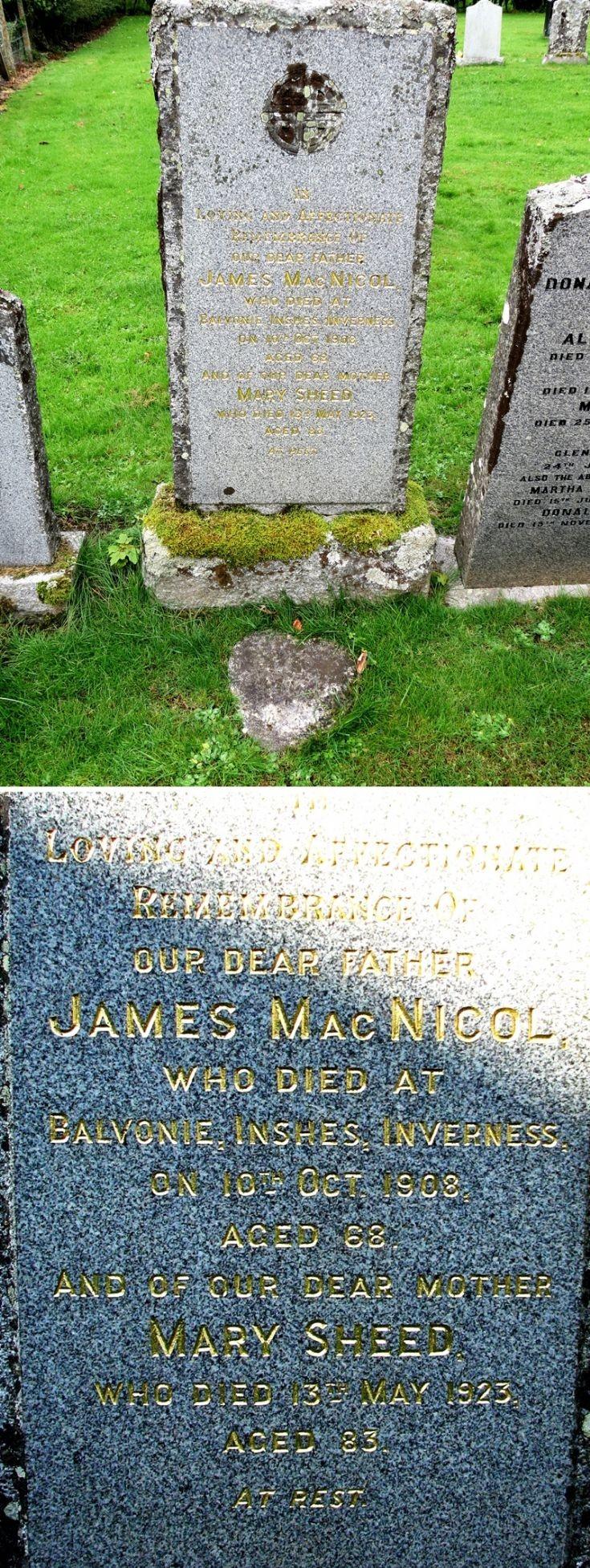 96 Grave No 132 James McNicol