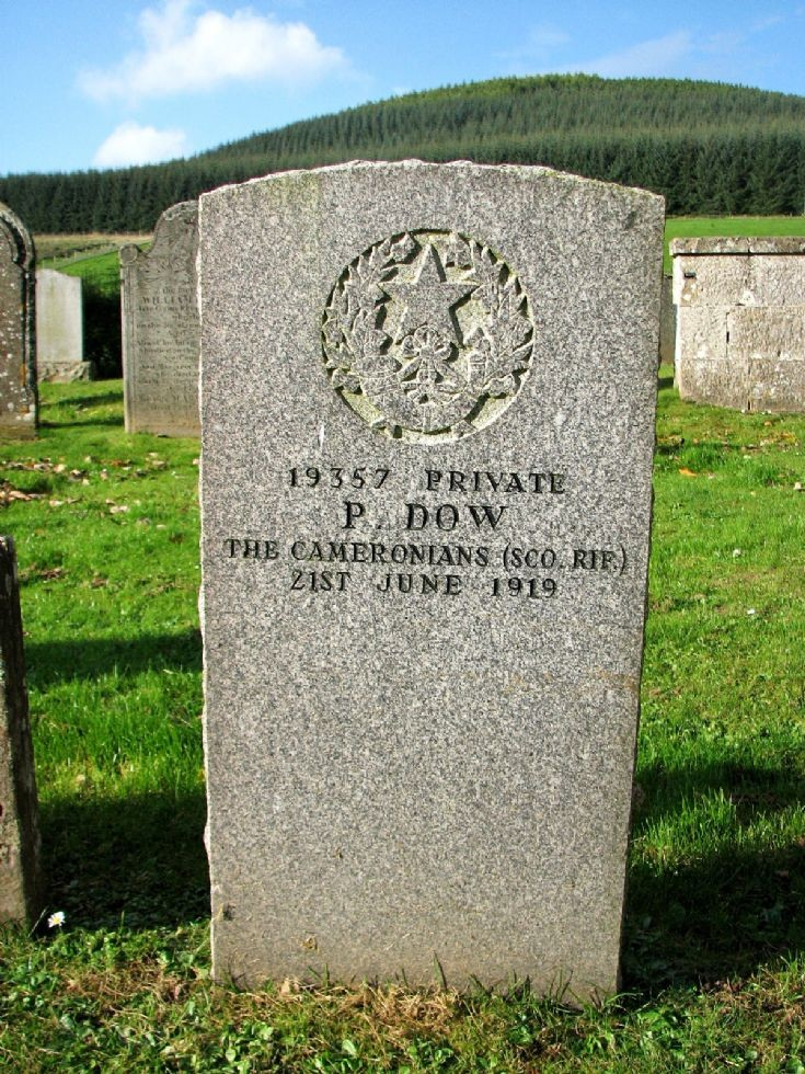 99 Grave No 136 Peter Dow - Cameronians