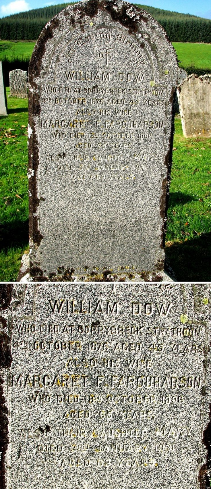 101 Grave No 138 William Dow