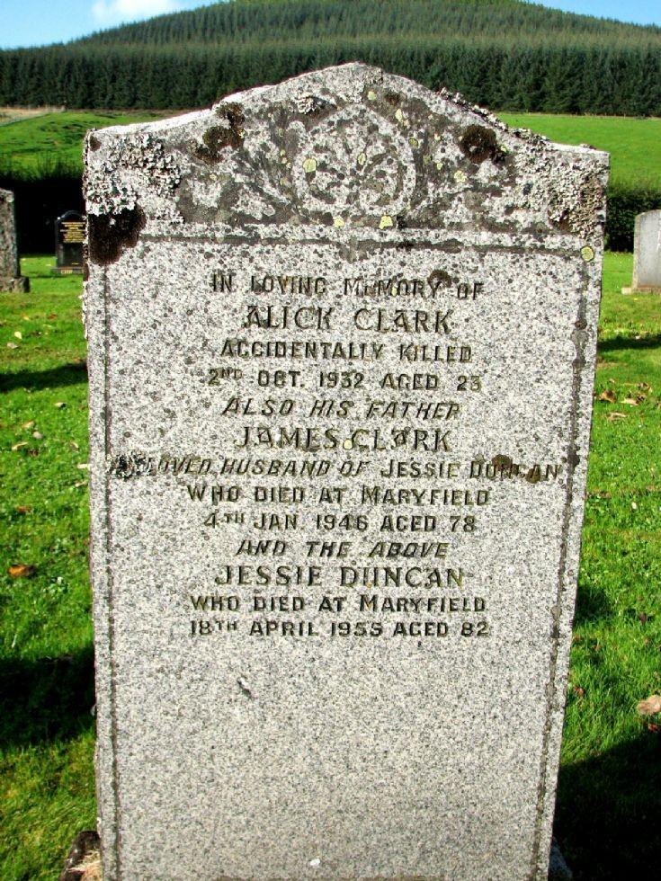 102 Grave No 139 Alick Clark
