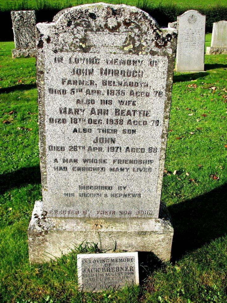 103 Grave No 140 John Murdoch & Jack Brebner