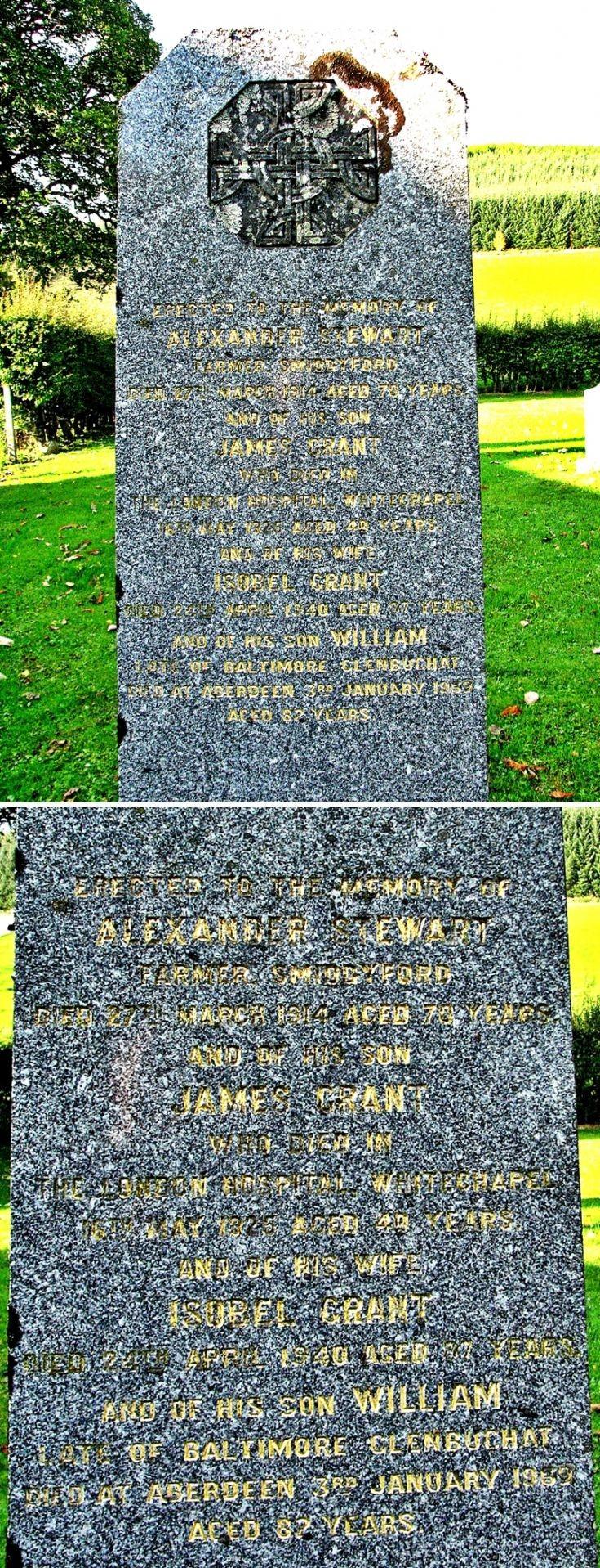 107 Grave No 144 Alexander Stewart