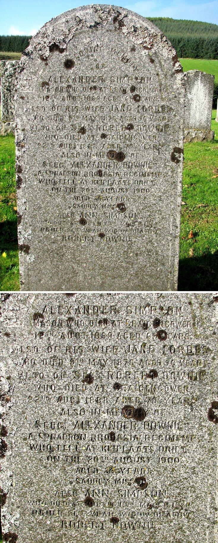 112 Grave No 149 Alexander Simpson