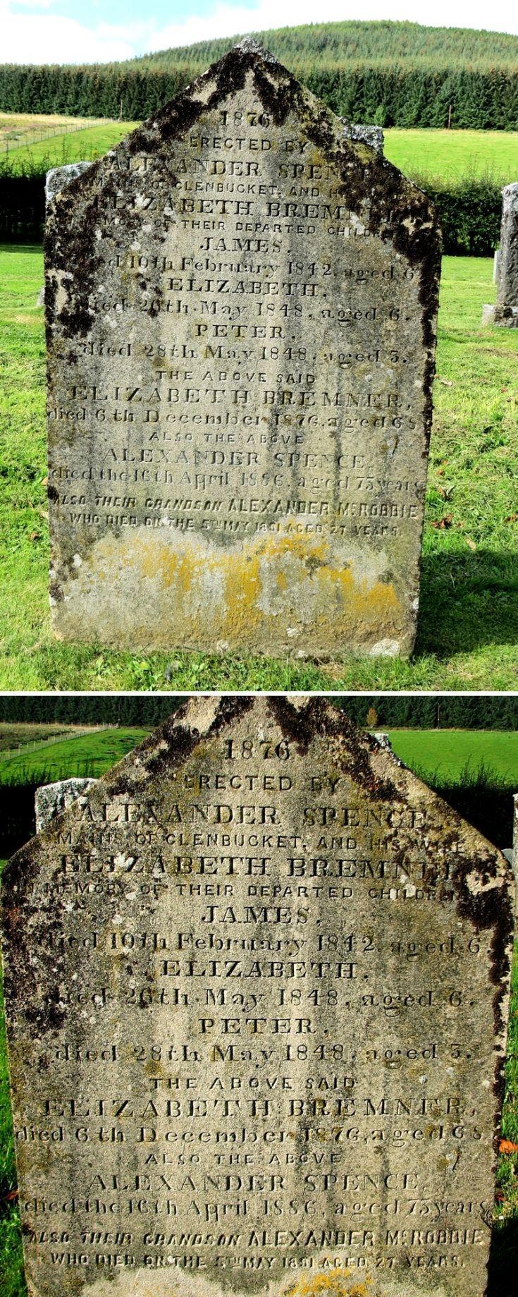 113 Grave No 150 Elixabeth Bremner