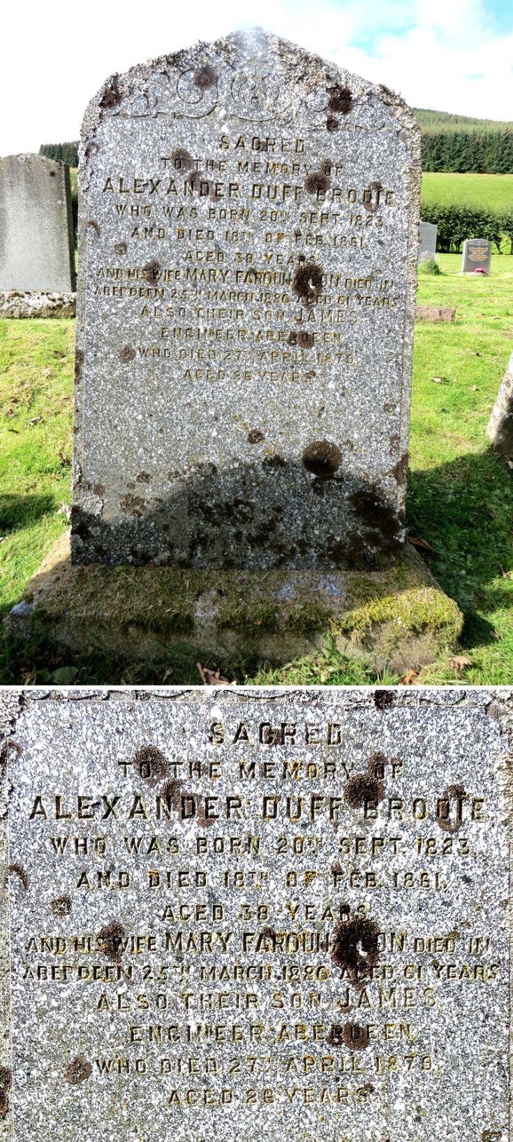 119 Grave No 156 Alexander Duff Brodie