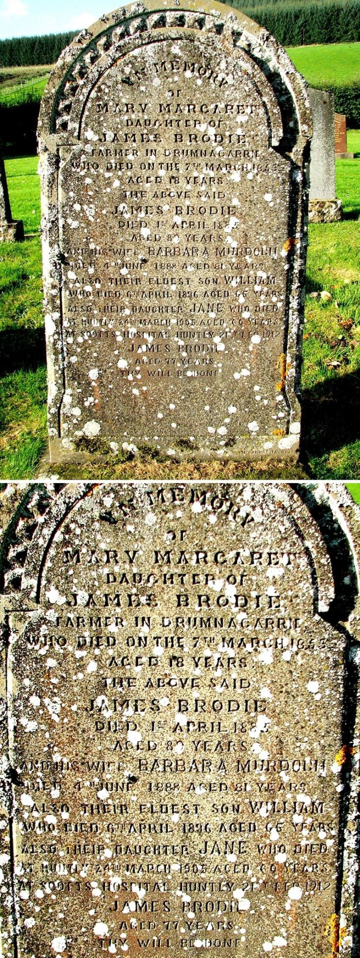 121 Grave No 158 Mary Margaret Brodie