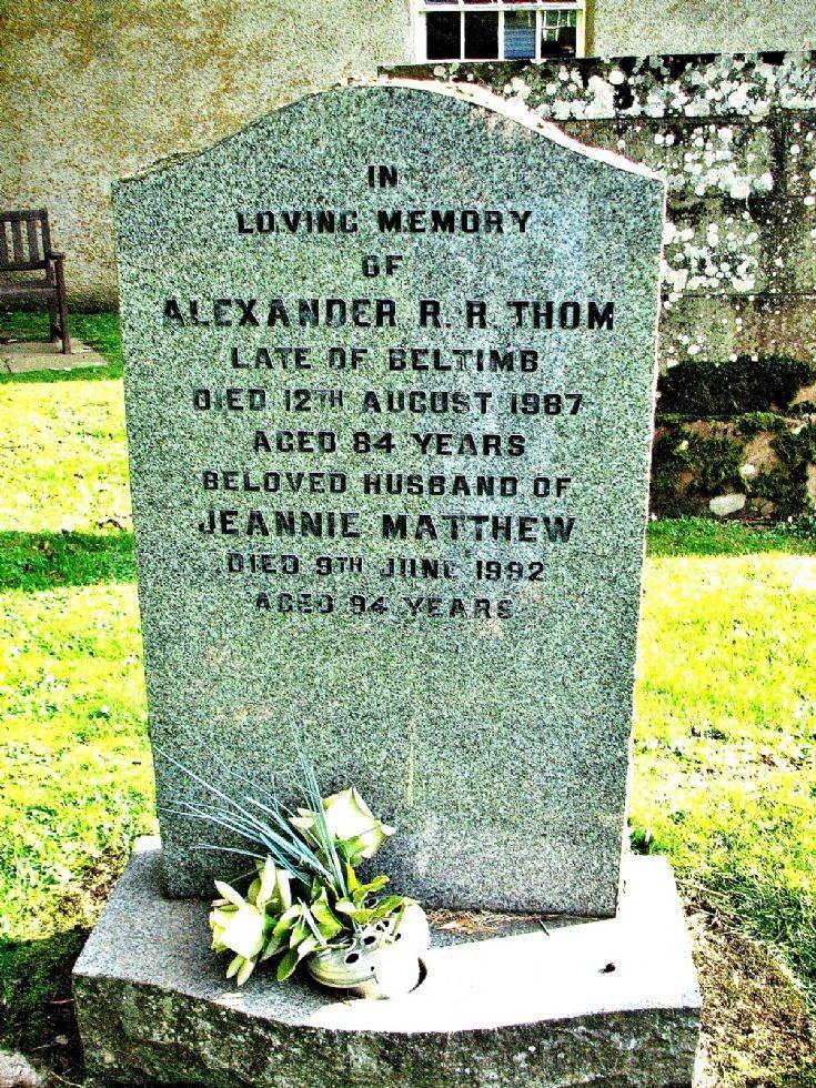 124 Grave No 161 Alexander Thom