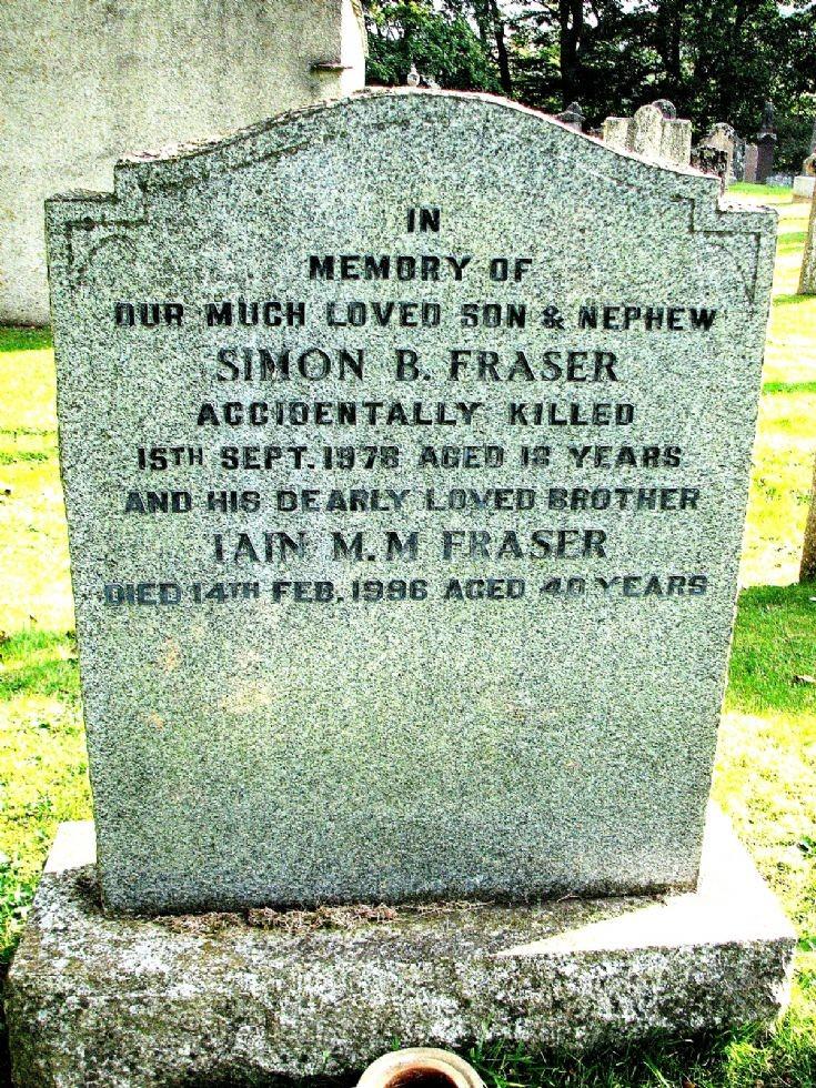 127 Grave No 164  Simon Fraser