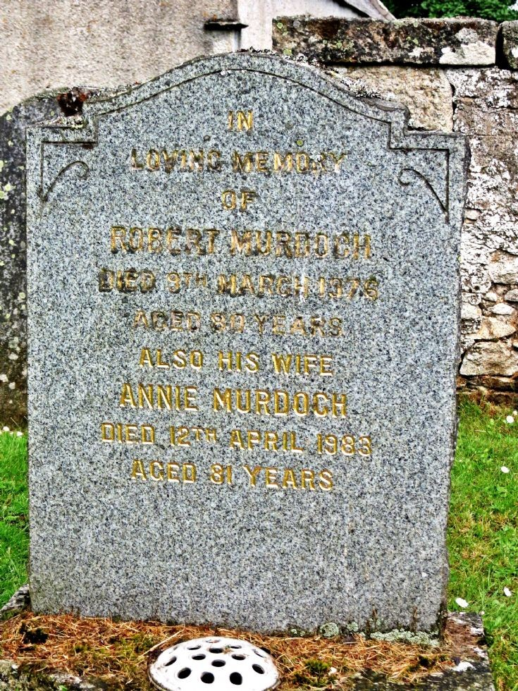 128 Grave No 165 Robert Murdoch
