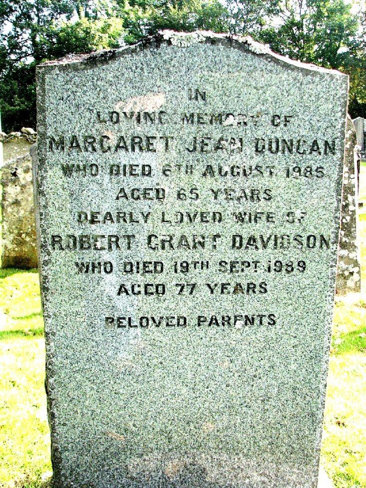 133 Grave No 170 Margaret Duncan