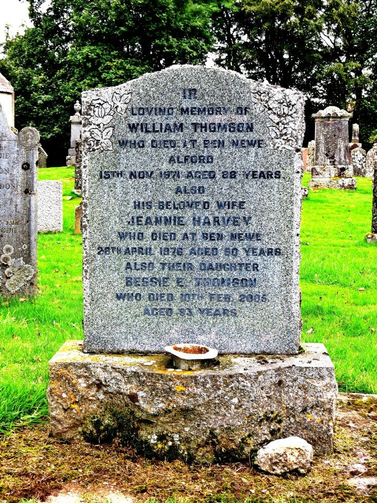 134 Grave No 171 William Thomson