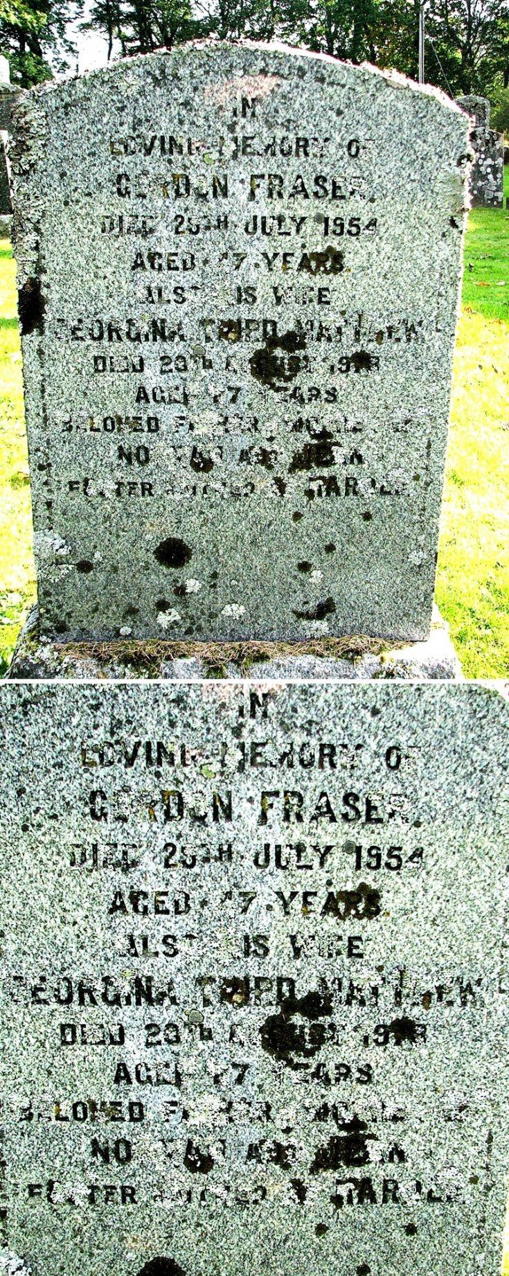 139 Grave 176 Gordon Fraser