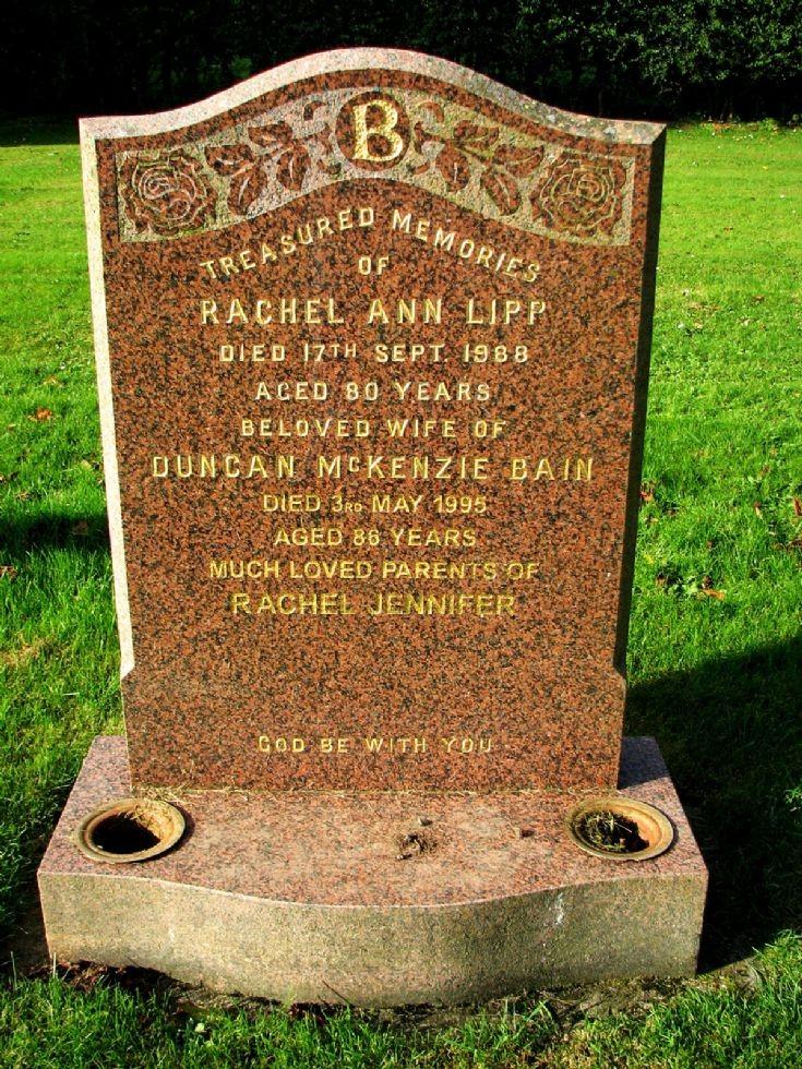 147 Grave No 187 Rachel Lipp