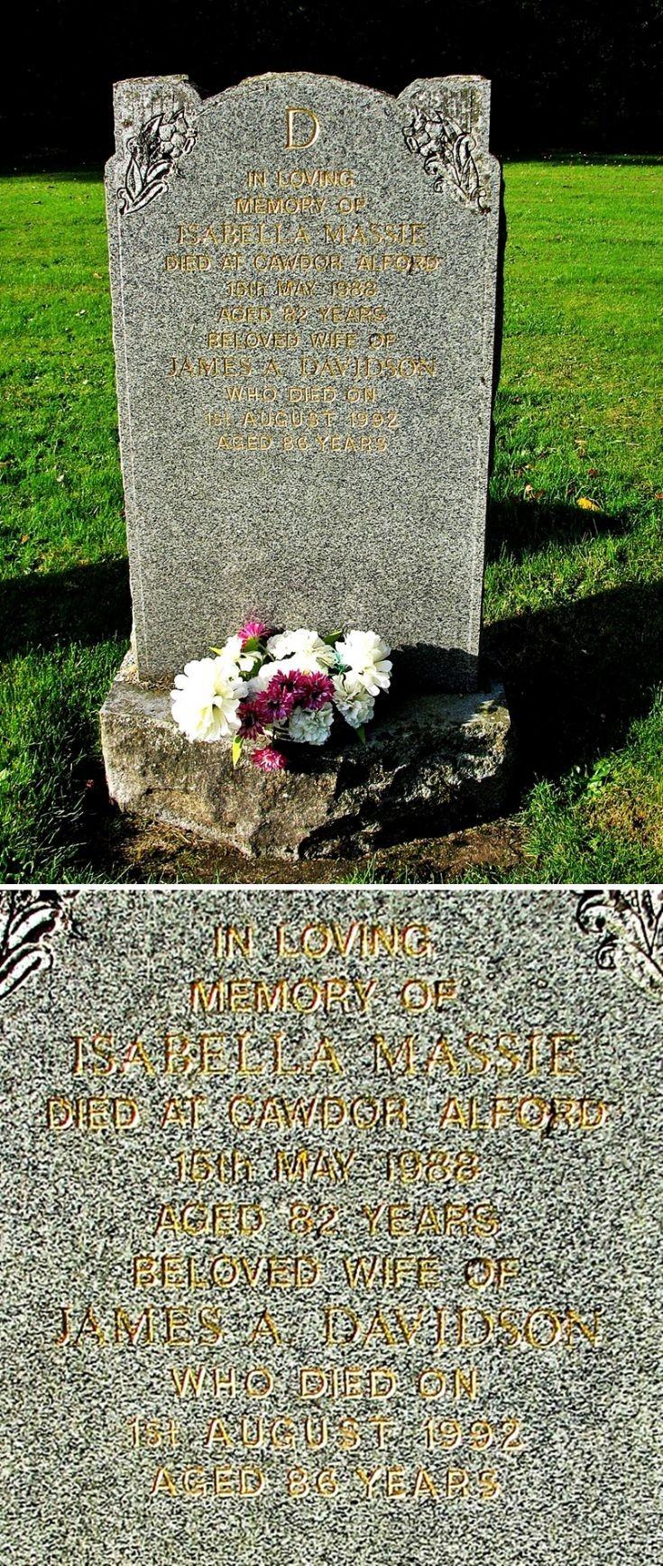148 Grave No 189  Isabella Massie