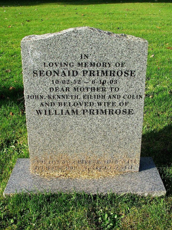 150 Grave No 192 Seonaid Primrose