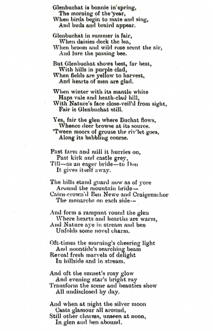 Glenbuchat Poem 1909