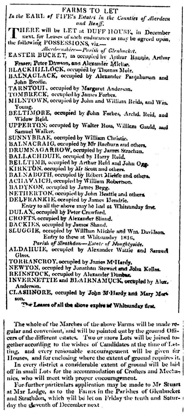 125 Letting of Farms 1813