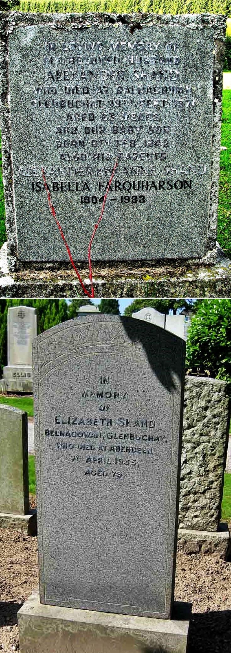 18 Alex and Lizzie Shand gravestones