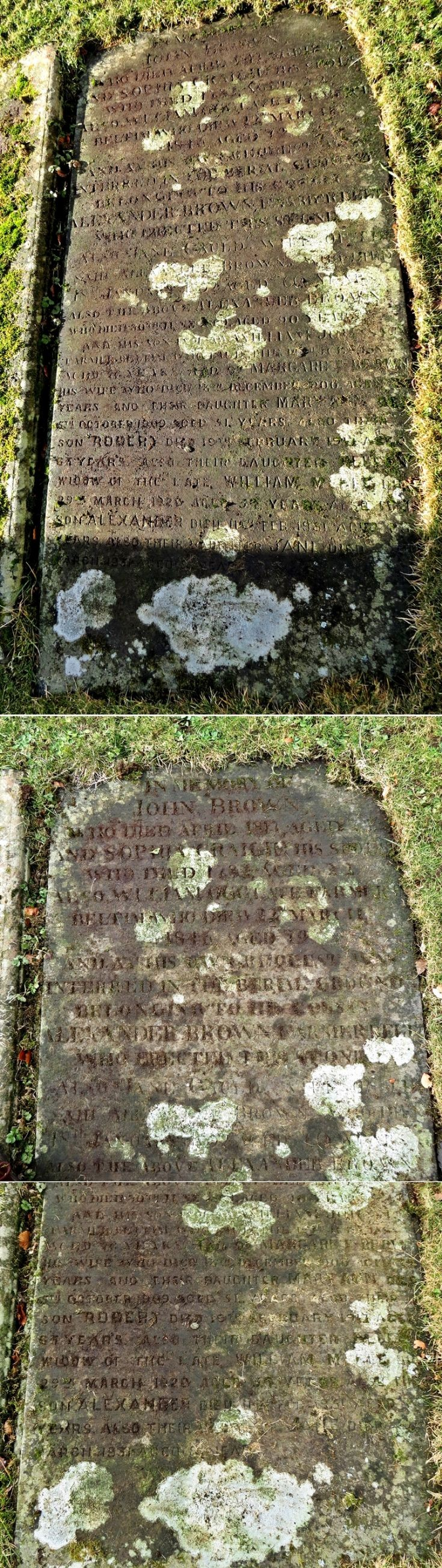 158 Grave Stone No 85 - John Brown